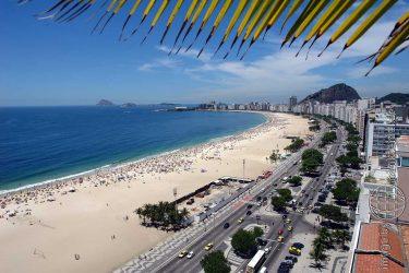 Bild: Copacabana in Rio de Janeiro - Reiseblog von Frank Seidel