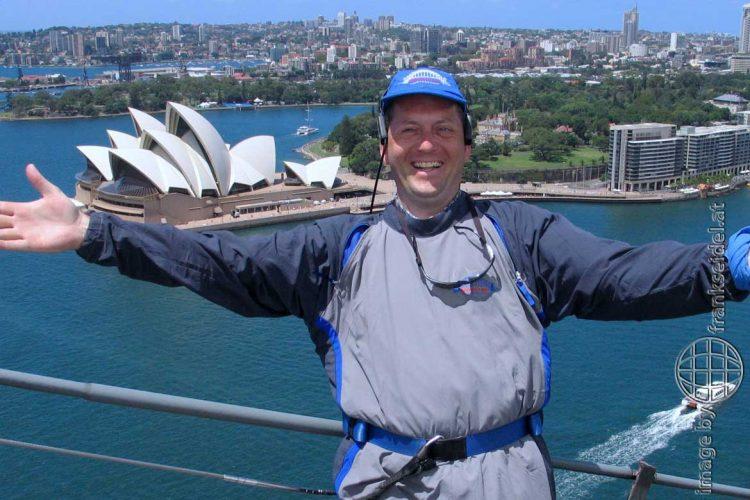 Bild: Sydney Bridge Climb, Frank Seidel auf der Harbour Bridge - Reiseblog von Frank Seidel