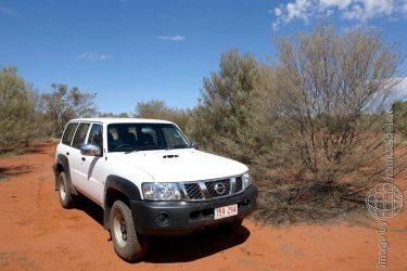 Bild: PKW im Outback, Australien - Reiseblog von Frank Seidel