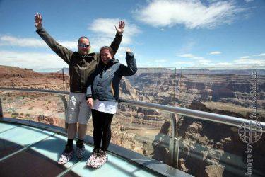 Bild: Grand Canyon Skywalk, Glasbrücke - Reiseblog von Frank Seidel