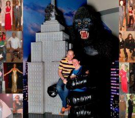 Bild: Frank Seidel und Christine Schirk mit King Kong, Madame Tussauds, New York City, USA - Reiseblog von Frank Seidel