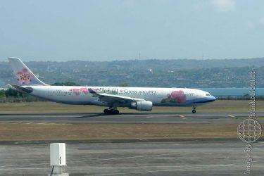 Bild: Flugzeug der China Airlines - Reiseblog von Frank Seidel