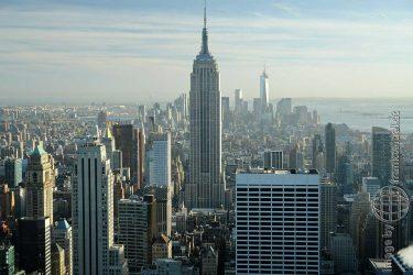Bild: Aussicht vom Rockefeller Center auf New York City, USA - Reiseblog von Frank Seidel