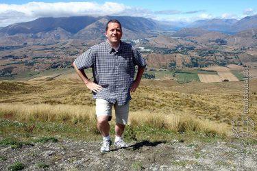 Bild: Frank Seidel am Coronet Peak, Neuseeland - Reiseblog von Frank Seidel
