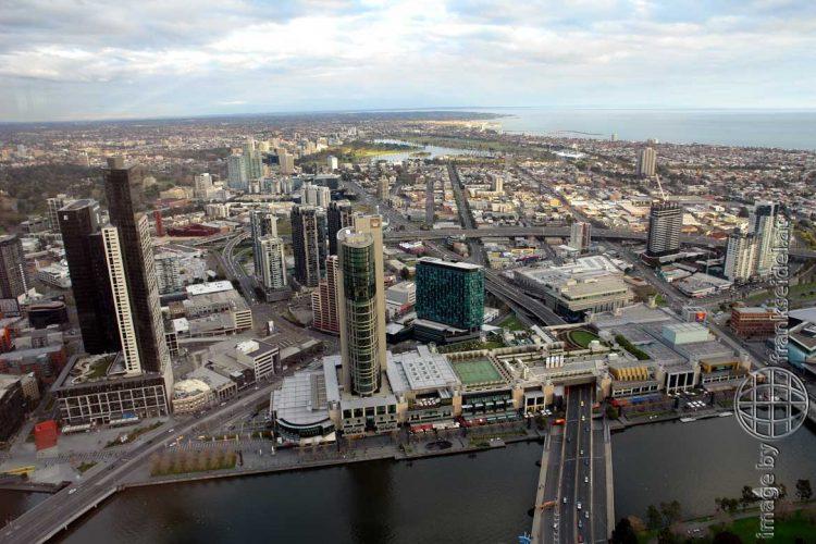 Bild: Melbourne von oben, Australien - Reiseblog von Frank Seidel