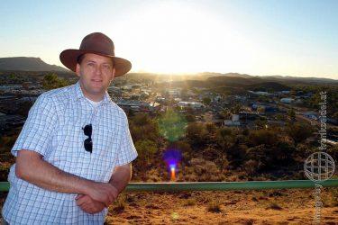 Bild: Frank Seidel in Alice Springs, Australien - Reiseblog von Frank Seidel