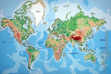 Bild Weltkarte auf Leinwand - Reiseblog von Frank Seidel